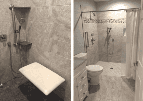 Aging in Place - Example of a Shower Stall