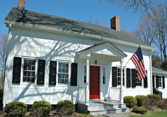 Home Improvement: Red Door, Traditional-Style Home