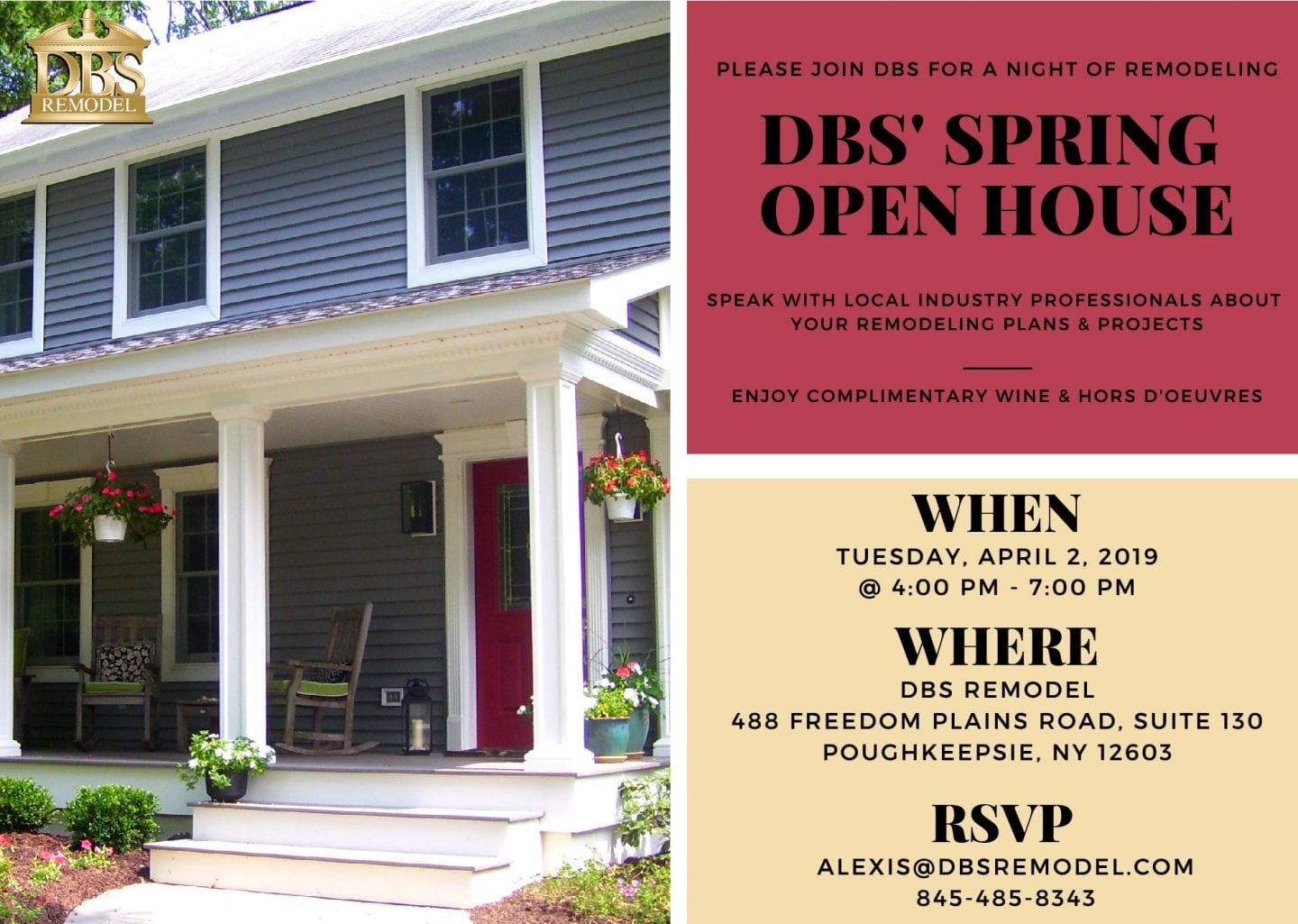 Remodeling Night: DBS' Spring Open House