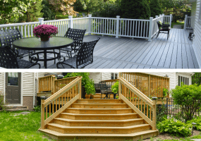 pressure treated deck vs composite deck