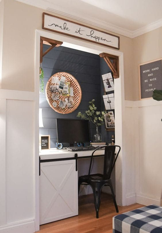 example of a closet office