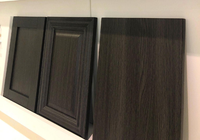 Three Dark-wood Cabinets