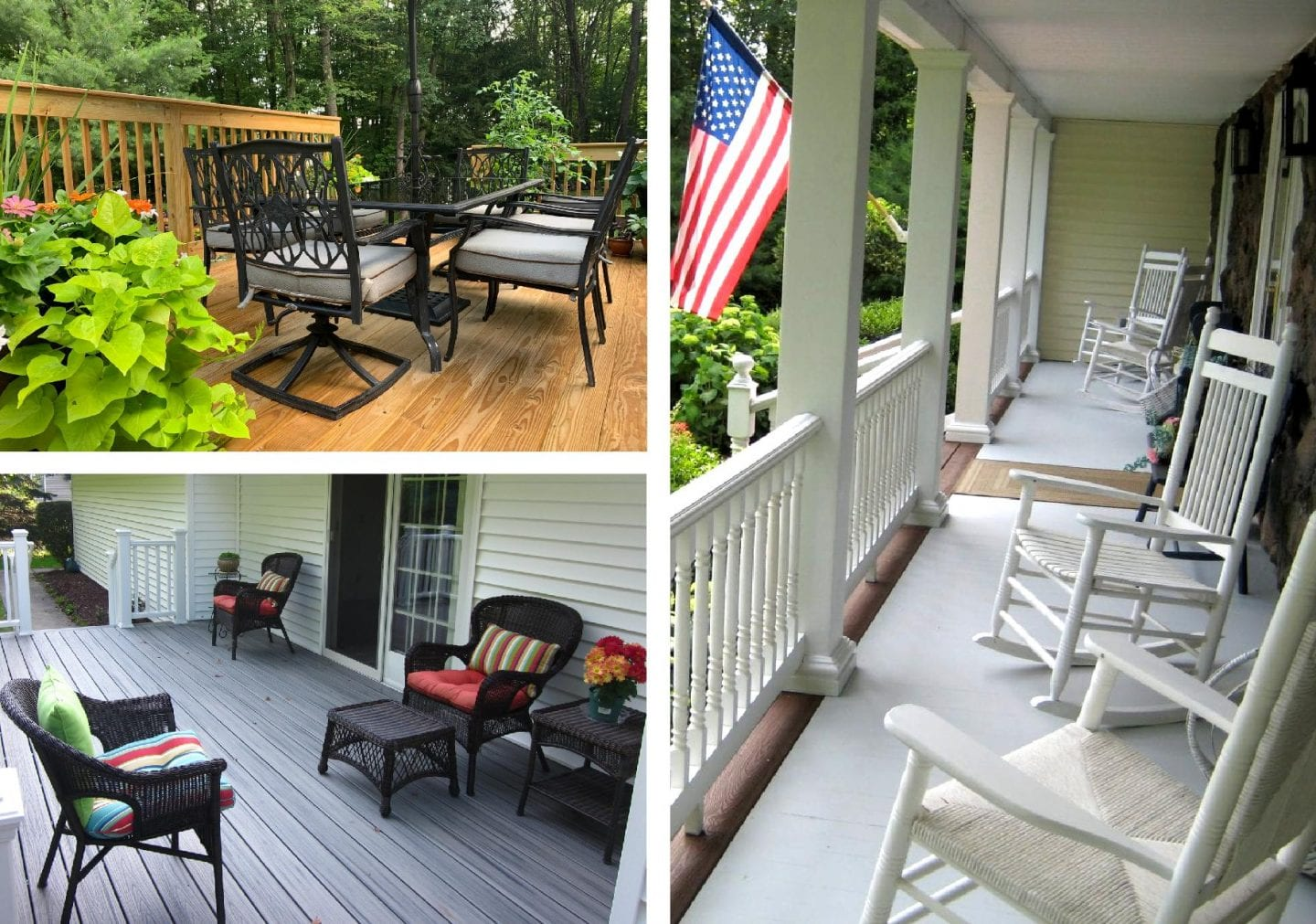 deck, patio, and porch with seating